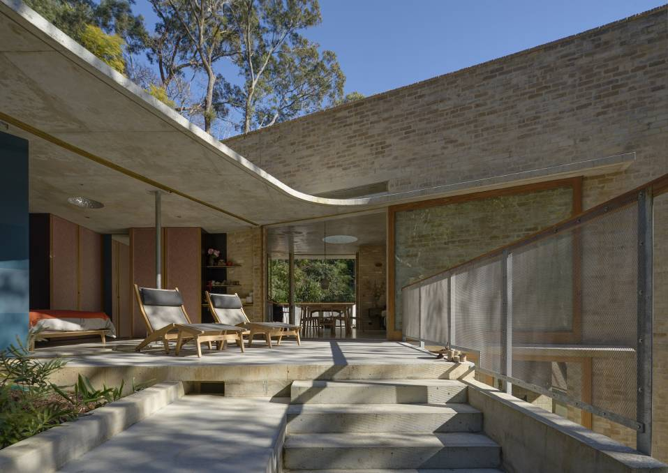 Cabbage Tree House by Peter Stutchbury Architecture was chosen as House of the Year from 477 entries. Photo: Michael Nicholson